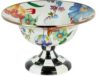 Mackenzie Childs Mackenzie-childs Courtly Check Enamel Serving Compote