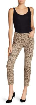NYDJ Alina Leopard Print Skinny Ankle Jeans