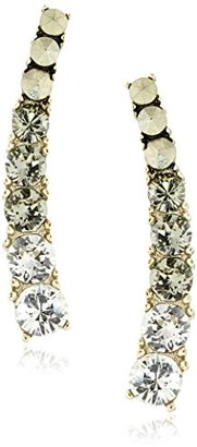 "Judith Jack ""All About Ears"" Sterling Silver/Gold-Tone/BDI Crawler Stud Earrings $82.16 thestylecure.com"