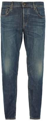 Rag & Bone Mid Rise Slim Leg Jeans - Mens - Blue