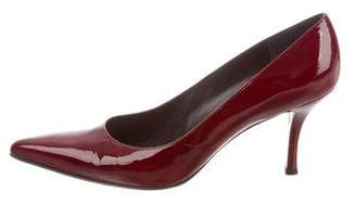 Stuart Weitzman Pointed-Toe Patent Leather Pumps