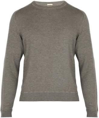 Massimo Alba Crew Neck Cashmere Sweater - Mens - Grey