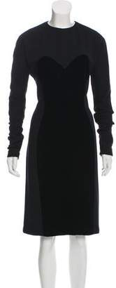 Geoffrey Beene Velvet-Accented Midi Dress