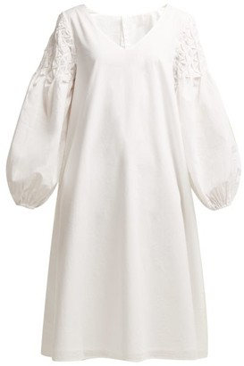 Merlette New York Smocked Shoulder Cotton Dress - Womens - White Gold