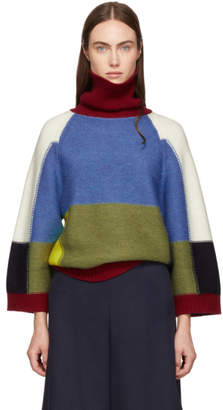 See by Chloe Multicolor Patchwork Turtleneck