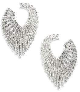 Adriana Orsini Phoenix Crystal Hoop Earrings
