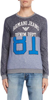 Armani Jeans Logo Raglan French Terry Pullover