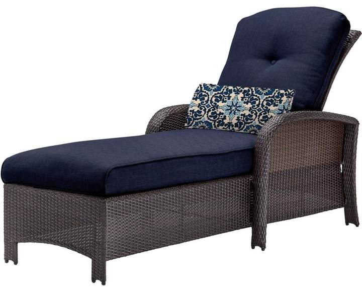 Cambridge Silversmiths Cambridge Corolla Luxury Chaise Lounge Chair - Navy