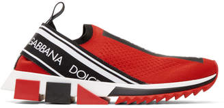 Dolce & Gabbana Red Branded Sorrento Sneakers