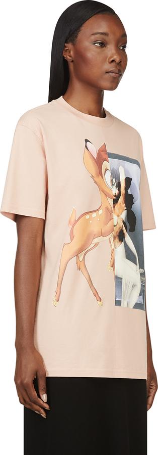 Givenchy Peach Bambi Graphic T-Shirt