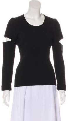 Alexander Wang Cold-Shoulder Long Sleeve Top w/ Tags