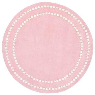 Pottery Barn Kids Pearl Dot Rug, 5' Round, Light Pink