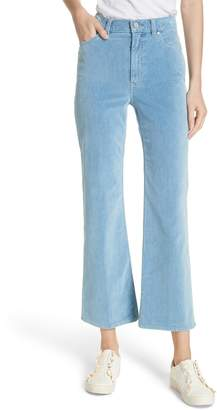 Rebecca Taylor Ines Kick Bootcut Velveteen Jeans
