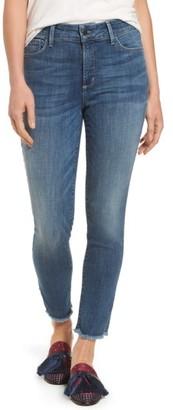 Women's Nydj Ami Frayed Hem Stretch Skinny Ankle Jeans $134 thestylecure.com