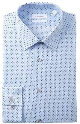Calvin Klein Dot Slim Fit Dress Shirt