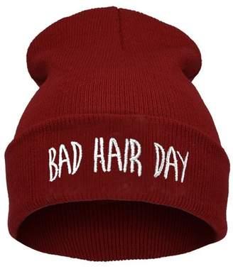 XY Fancy Unisex Warm Winter Fashion Bad Hair Day Wrap Head Cap Wool Hat Hip-hop Knit Beanie Hats