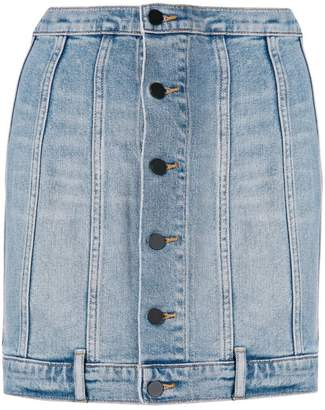 Alexander Wang seamed fitted denim skirt