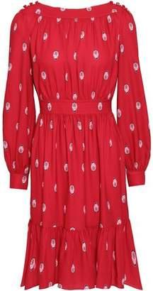 Kate Spade Gathered Printed Cady Mini Dress