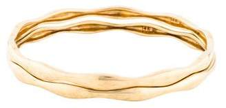 Swarovski 14K Wavy Bangle Set