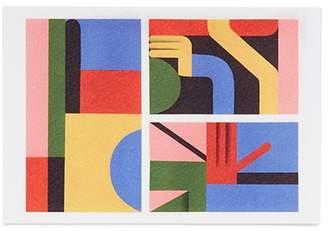 Lane Crawford x Zebu abstract hand postcard