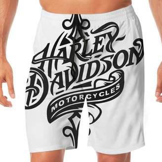 cf1f3e6fde Harley-Davidson K321dsh21 Motorcycle Logo Men's Beach Shorts Beach Swimming  Vacation Surfing Shorts Trunks Pants