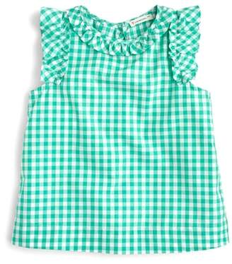J.Crew crewcuts by Sarah Ruffle Sleeve Gingham Top