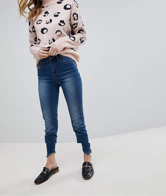 Pieces Skinny Jean With Ripped Hem