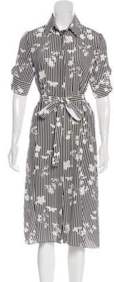 Altuzarra Striped Mid Dress Black Striped Mid Dress