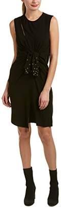 The Kooples Women's Crepe Back Satin & Eyelet Dress