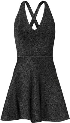 Cushnie et Ochs Deep-V Fit-and-Flare Dress