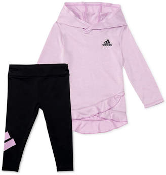 adidas Baby Girls 2-Pc. Melange Hoodie & Leggings Set