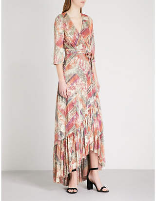BA&SH Pipa metallic woven maxi dress