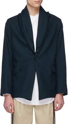 FFIXXED STUDIOS Scarf panel twill soft blazer