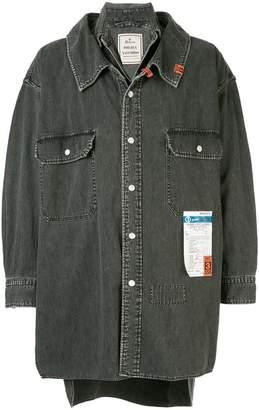 Puma Maison Yasuhiro oversized denim shirt