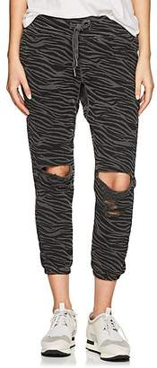 NSF Women's Sayde Zebra-Print Cotton Jogger Pants