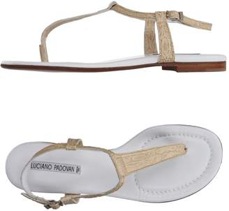 LUCIANO PADOVAN Toe strap sandals $226 thestylecure.com