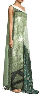 Etro Silk One Shoulder Gown
