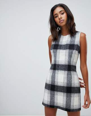 Jack Wills wool blend check shift dress