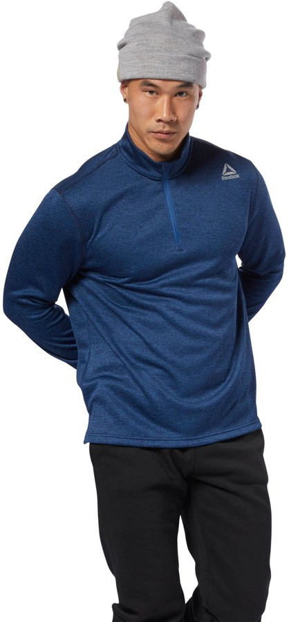 Men's Reebok Double-Knit Quarter-Zip Top