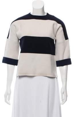 Derek Lam Cashmere-Blend Striped Sweater w/ Tags Navy Cashmere-Blend Striped Sweater w/ Tags