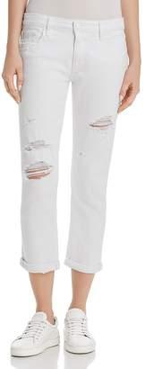 Paige Brigitte Straight Jeans in Bright White Destructed