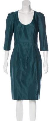 Prada Wool & Silk Midi Dress