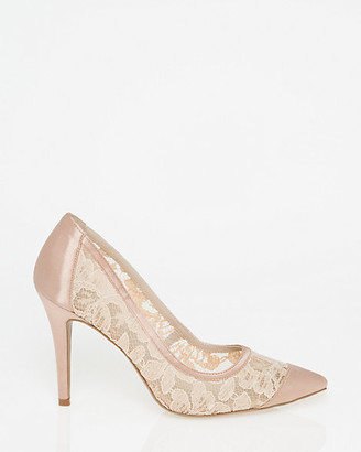 Le Château Lace & Satin Pointy Toe Pump