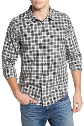 RVCA Hayes Plaid Flannel Regular Fit Sport Shirt