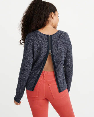 Abercrombie & Fitch Zipper-Back Sweater