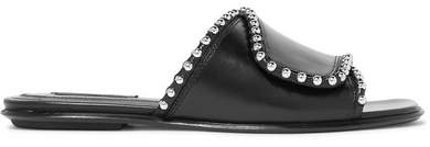 Alexander Wang - Leidy Studded Leather Slides - Black