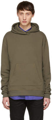 John Elliott Brown Oversized Cropped Hoodie