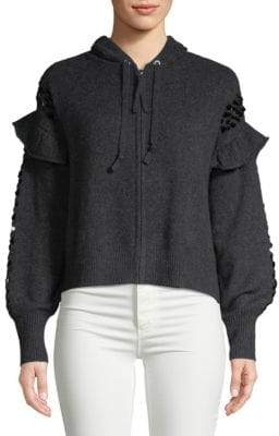 Wildfox Couture Hazy Zip Cashmere Hoodie