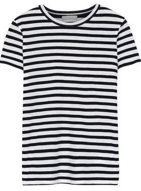 Vince Striped Cotton-jersey T-shirt