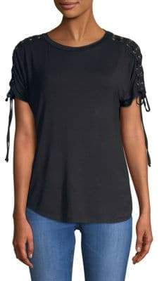 Ppla Short-Sleeve Lace-Up Top